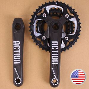 104-64BCD-24-32-42t-10S-Triple-Aluminum-MTB-Bike-Chainring-Crank-set-Crankset