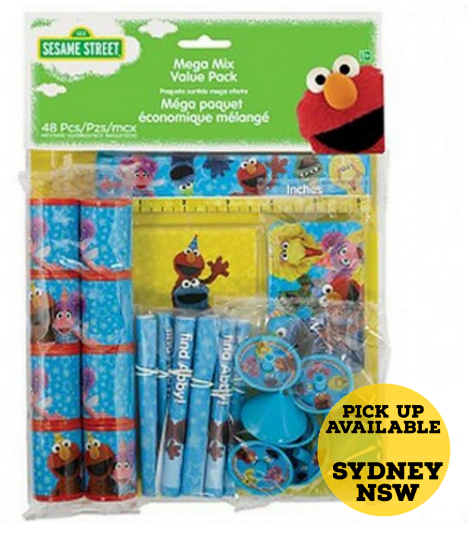Sesame Street Mega Mix Favors Value Pack 48 Pieces Birthday Party Favours