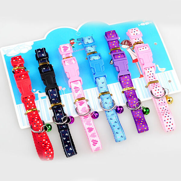 Pet Dog Puppy Cat Kitten Collar Neck Necklace Strap Ajustable Fashion Bell L