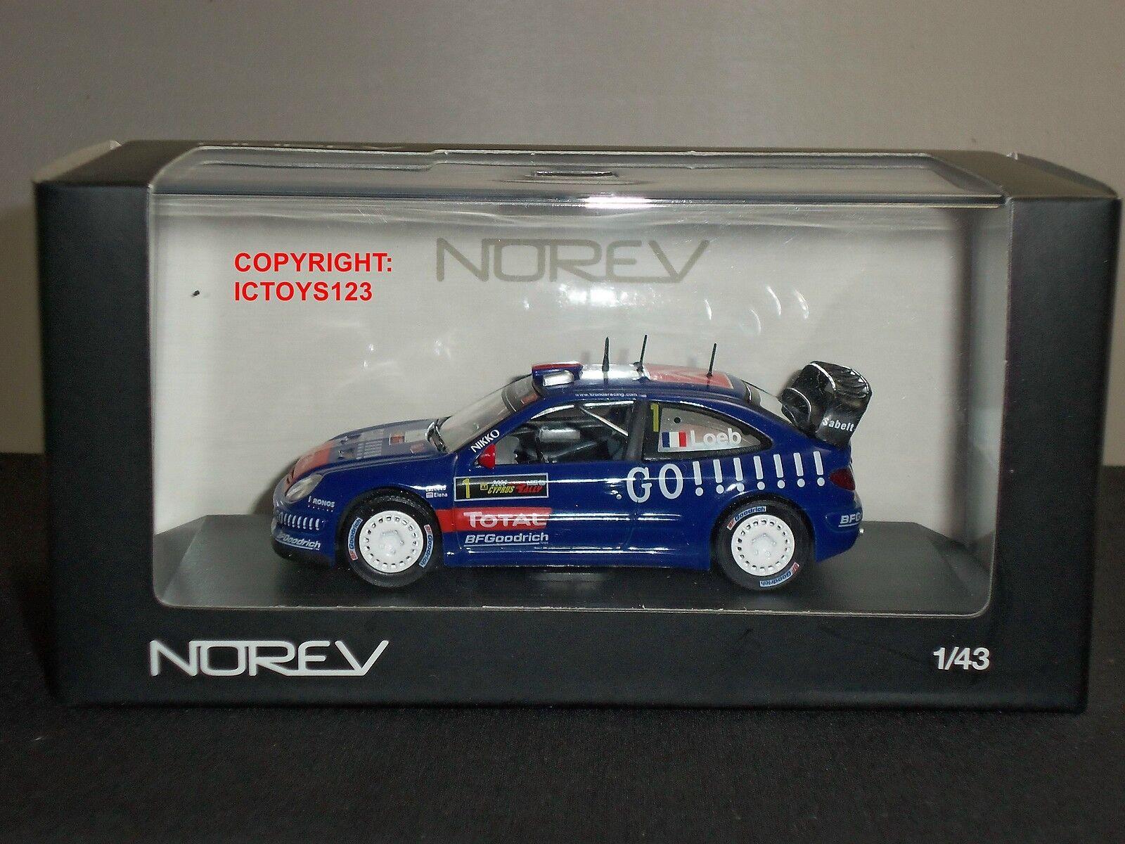 NOREV 159752 CITROEN XSARA WRC KRONUS S LOEB 2006 RALLY DIECAST MODEL CAR