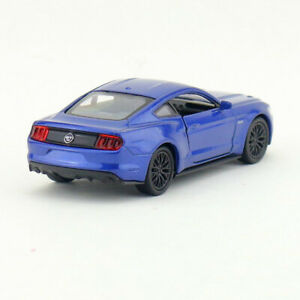 Ford-Mustang-GT-2015-1-36-Scale-Model-Car-Diecast-Gift-Toy-Vehicle-Kids-Blue