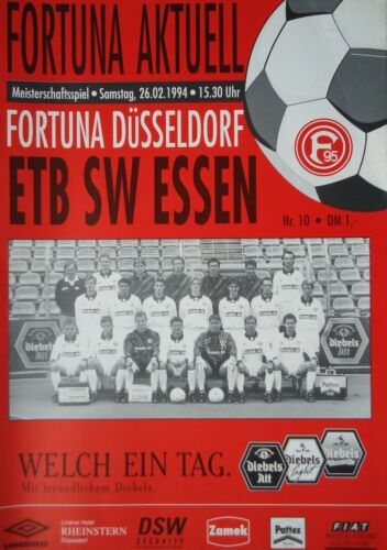ETB SW Essen Programm 1993//94 Fortuna Düsseldorf