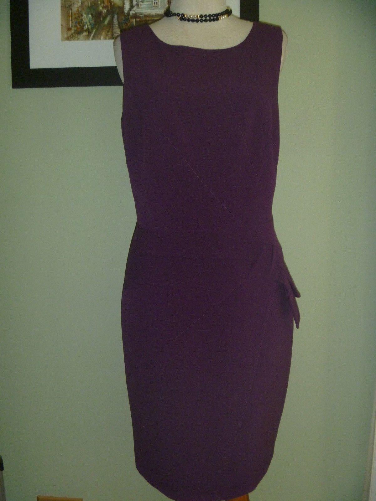 Laundry by Shelli Segal Los Angeles Purple Plum Dress Size 8
