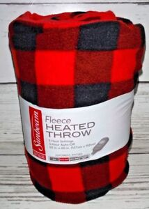 Image Is Loading Sunbeam Heated Throw Buffalo Plaid Check Electric Blanket