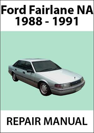 FORD FAIRLANE NA Series REPAIR MANUAL 1988-1991