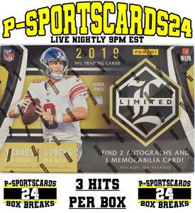 2019-PANINI-LIMITED-FOOTBALL-CARDS-NFL-LIVE-BOX-BREAK-3452-1-TEAM-3-HITS