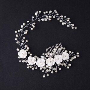 Sur Détails Perle Serre Tête Mariée Collier De Pièce Accessoires Cheveux Fleur Mariage mOv0N8nw