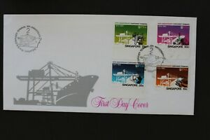 SINGAPORE 1982 FDC 10th anniv. of container terminal 2 with leaflet