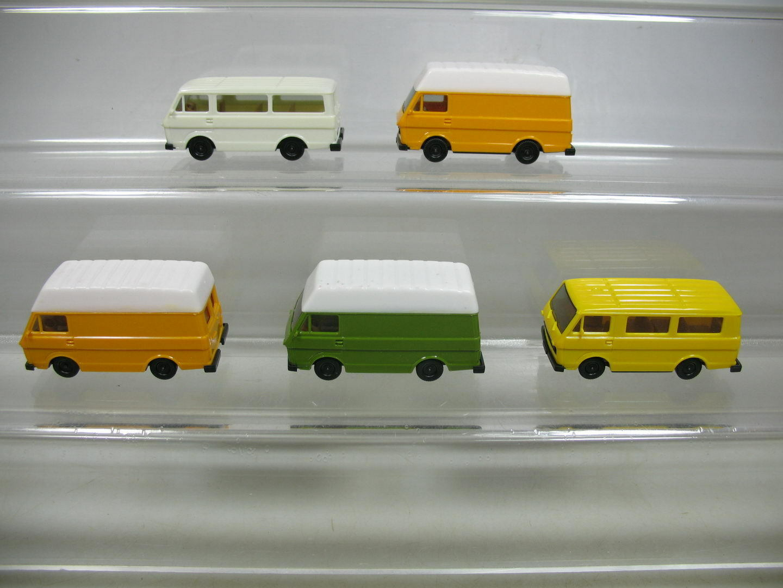 AF109-0, 5   5 5 5 X Herpa H0 Volkswagen VW Lt Bus   Transporter, Top 05e346