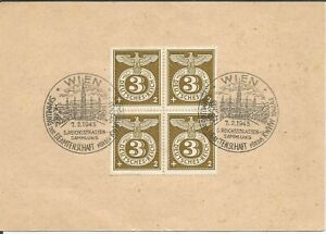 German Third Reich Stamp --    Eagle & Swastika  Postcard 1942