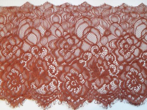 """9.5 /""""Costume Nouveau ~ riche lumineux cuivre marron cils dentelle 24 cm LINGERIE trim Artisanat"""