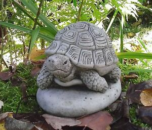 Image Is Loading STONE GARDEN TORTOISE TURTLE ANIMAL GARDEN ORNAMENT PRESENT