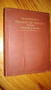 Antique-Shakespeare-039-s-034-TRAGEDY-OF-HAMLET-034-Book-Edited-by-William-Rolfe-1892