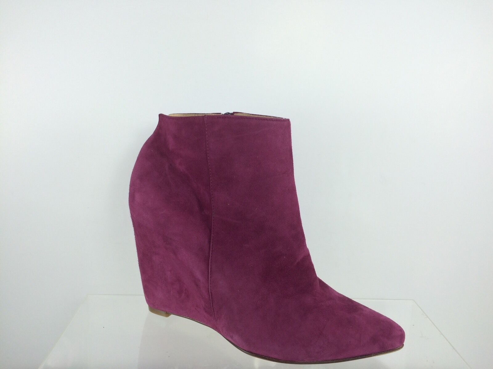 NWOB Cole Haan Women's Pink Fuchsia Suede leather Ankle Boots 7.5 B