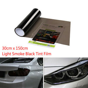 150cm-x-30cm-Light-Smoke-Black-Tint-Film-Headlights-Tail-lights-Car-Vinyl-Wrap