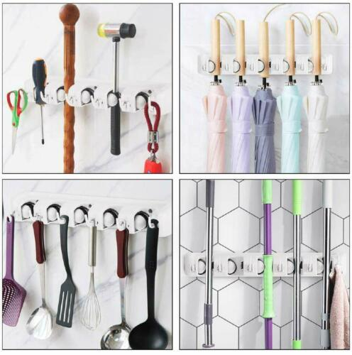 Guay Clean Wall Mounted Broom and Mop Holder Home Garage Organizer Storage Rack