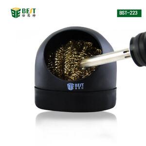 Soudage Soudure Solder Iron Tip Cleaner Nettoyage Fil d/'acier avec support Set
