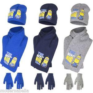 Caricamento dell immagine in corso Minions-Set-cappello-sciarpa-guanti- CATTIVISSIMO-ME-bimbo- f8bf1a929ed2