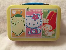 Vintage Sanrio Hello Kitty Metal Lunch Pail / Box with Additional Accessories!