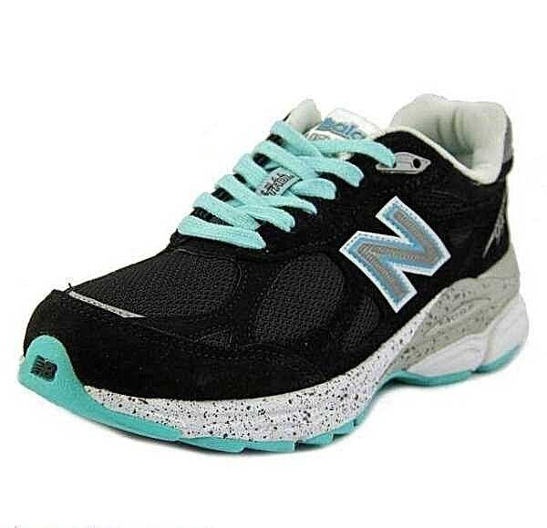 NEW BALANCE 990 W990 Black Gray Turquoise Reflective Running Shoes Women Wide