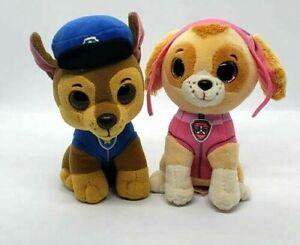 Set Of Dog Stuffed Animals, Ty Beanie Boo Paw Patrol Plush Chase Skye Set Of 2 Puppy Dog Stuffed Animal Ebay