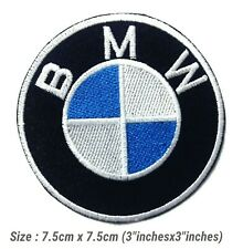 Sewing on Clothe BMW Power 7.5cm Motorcycle Patches Logo Embroidery Iron on