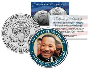 Martin Luther King Jr Nobel Peace Prize 1964 Winner Jfk Half