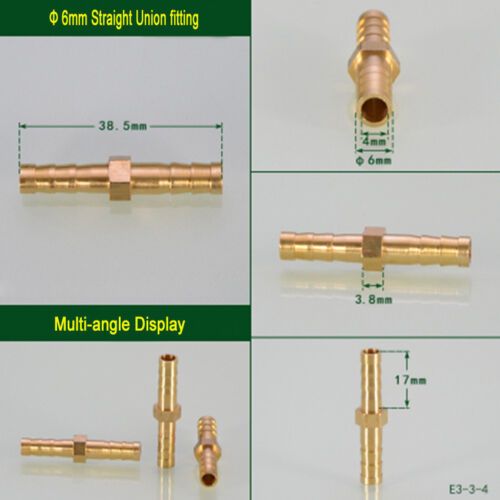 Brass Hose Tail Fitting Connector Straight Union ,Cross ,Tee, Y Pipe Adapter
