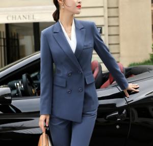 F donna da da Colletto lavoro classico classico abiti risvolto bavero 2 pezzi PUWgq5wc