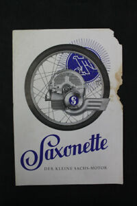 Age Print Sachs Saxsonette the Little One Motor Old Vintage Advertising