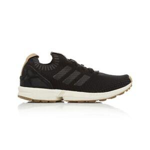 db5fd63b5b Details about Adidas Originals ZX Flux Primeknit Men's Women's Running Shoe  - Core Black/Core