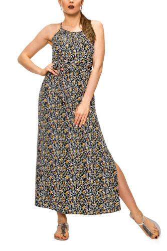 Vero Moda Damen Maxi Kleid Trägerkleid mit Print Slip Dress Sommerkleid