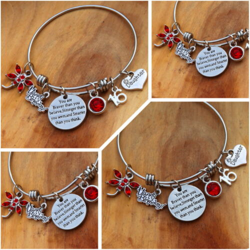 Personalised BIRTHDAY Gifts Bracelet 18th 16th 21st 30th 40th 50th 60th ##