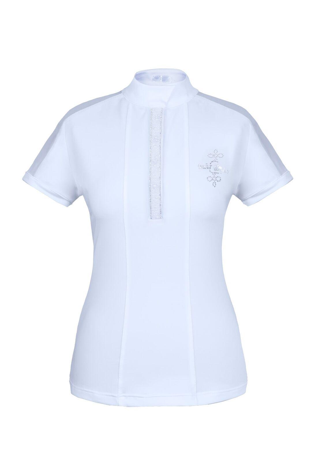 Camisa de competición Fairplay fp Claire, blancoo Perla,