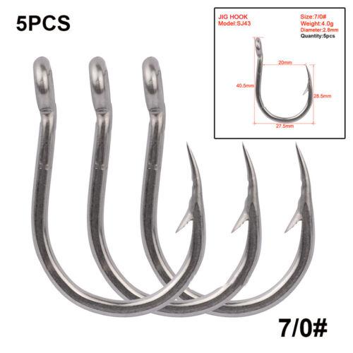 Barbed Carbon Steel Sharp Sea Fishing Hooks Fish Bait Durable Head Fishook