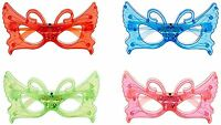 12/pk Butterfly Led Light Up Sunglasses Unisex Flashing Glasses Assorted Color