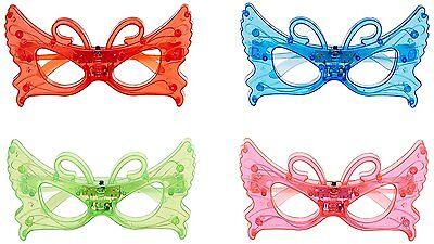 12//pk Heart shape LED Light Up Sunglasses Unisex Flashing Glasses assorted color