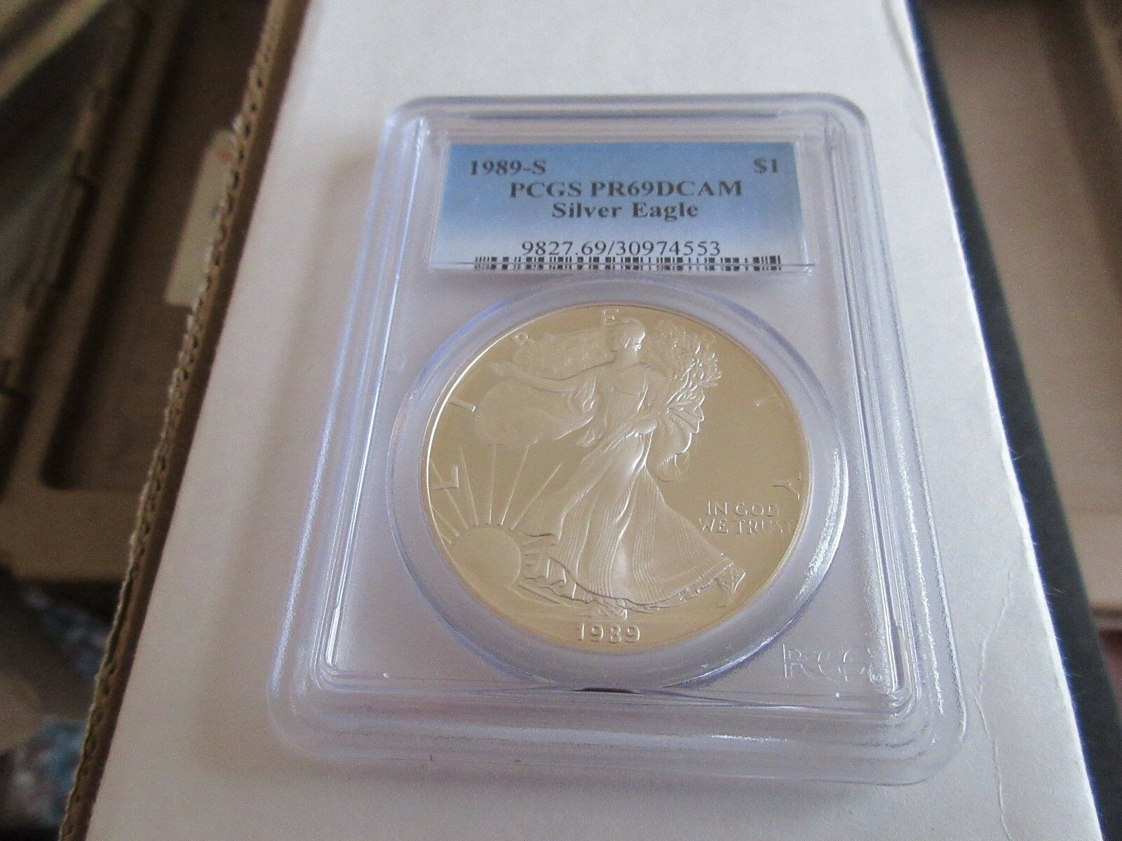 1989-S , Silver Eagle , PR69DCAM , PCGS , Beautiful Coi