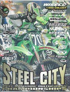 Vintage Steel City Nationals 1997 AMA Motocross Program Ricky Carmichael