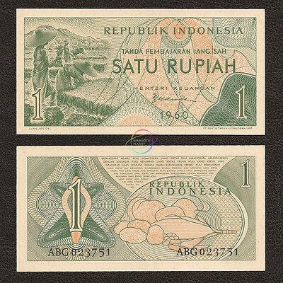 INDONESIA 1 RUPIAH 1960 P 76 X REPLACEMENT AU-UNC