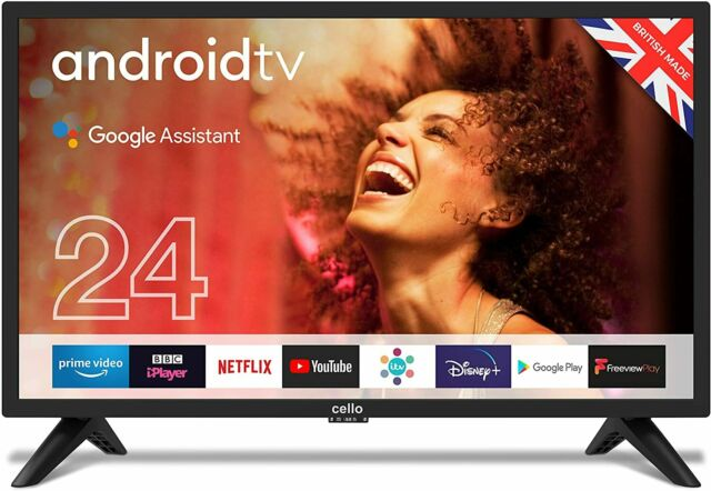 """Cello ZG0242 24"""" Smart Android TV with Freeview Play, Google Assistant,"""