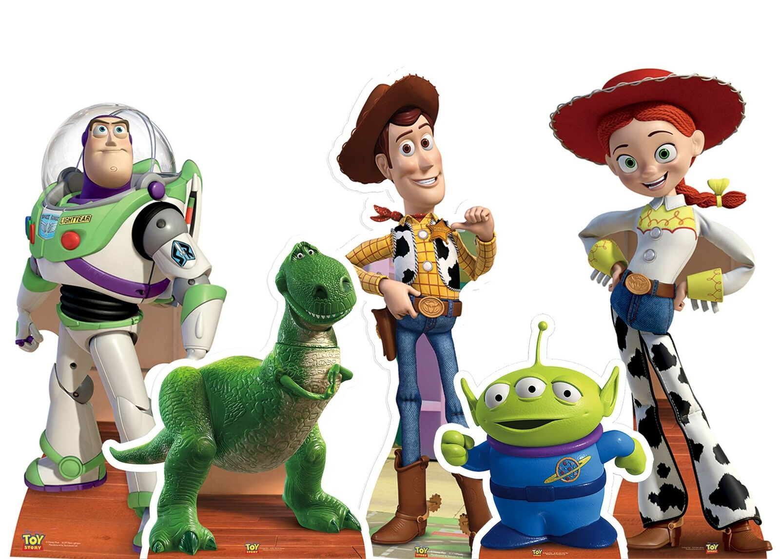 Toy Story Cardboard Cutouts Set of 5 - Woody Rex Buzz Lightyear Jessie Party