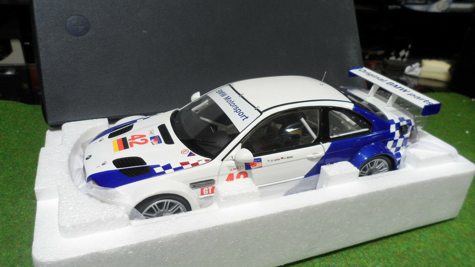 BMW  M3 GTR 2001 LEHTO   42 MÜLLER 1 18 MINICHAMPS 80430139183 voiture miniature