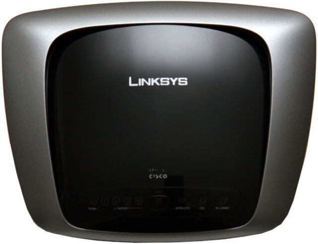 LINKSYS WAG160N  WIRELESS N 4 PORT MODEM  ROUTER 300MBPS FOR ADSL CONNECTIONS