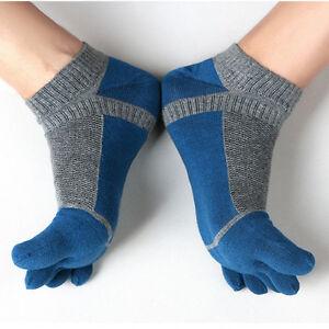 1-Paar-Damen-Herren-Freizeit-Baumwolle-Zehensocken-Sport-Fuenf-Finger-Socken