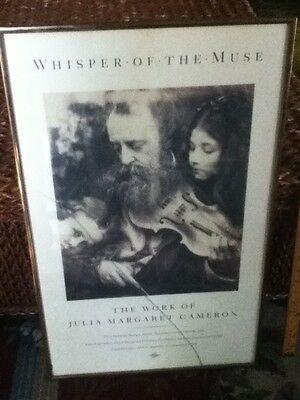 "27"" Whisper of The Muse G.F. Watts Julia Margaret Cameron Art Print  Metal Frame"