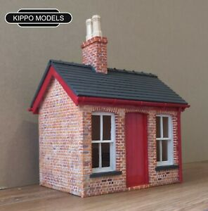 Garden-railway-G-scale-station-ticket-office-and-waiting-area-Gauge-3