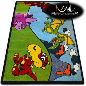 Doux tapis chambre garçons filles épaisse enfants tapis 'kids' dino fun rugs large  </span>