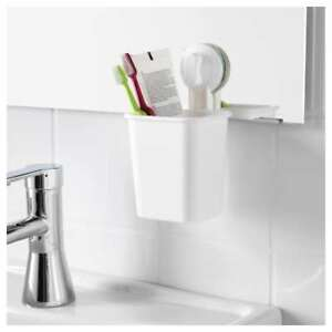Details about Toothbrush Holder With Suction Cup White Bathroom IKEA  STUGVIK NEW 902 994 92