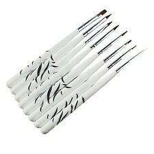 8PCS/1Set Zebra Nail Art Dotting Manicure Painting Drawing Polish Brush Pen Tool